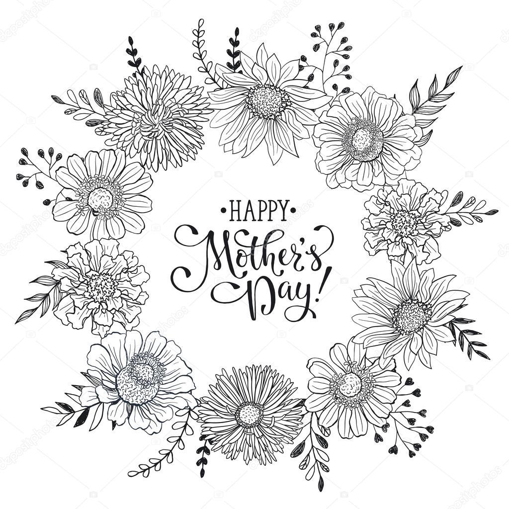 Anneler Günü Kartı Stok Vektör Ollymolly 107864526