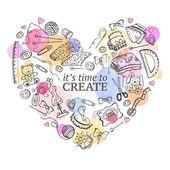 Fotografie Doodle  heart