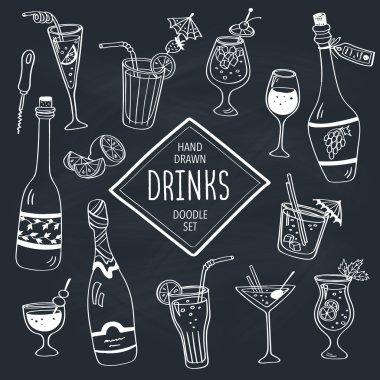 Doodle drinks.
