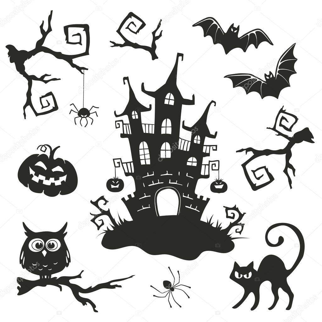 Oggetti Di Halloween.Halloween Objects Stock Vector C Ollymolly 85442050