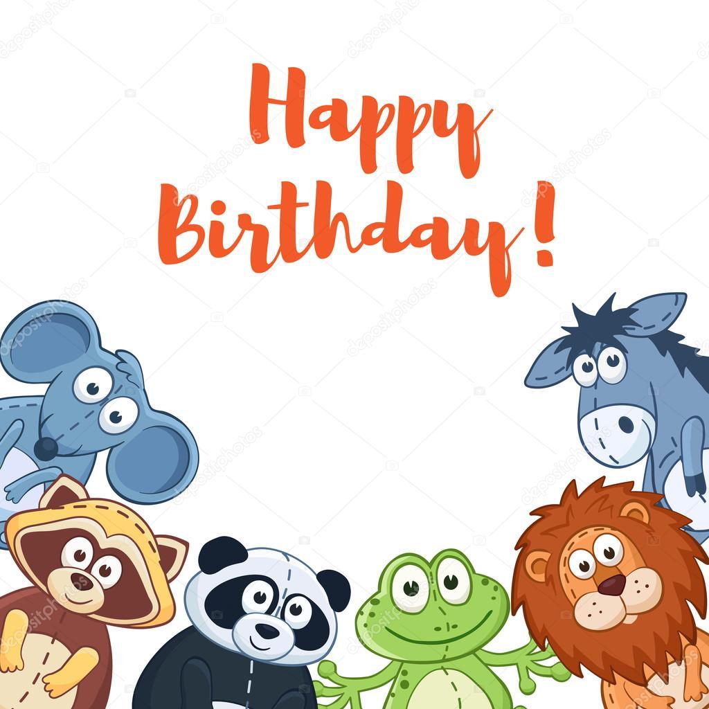 Happy birthday card Vector ollymolly 93298802 – Birthday Cards Cartoons
