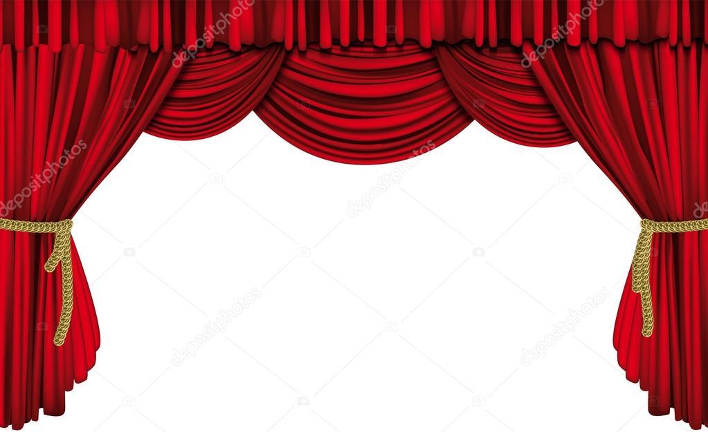 The Velvet Curtain Free Red Velvet Theatre Curtain Stock