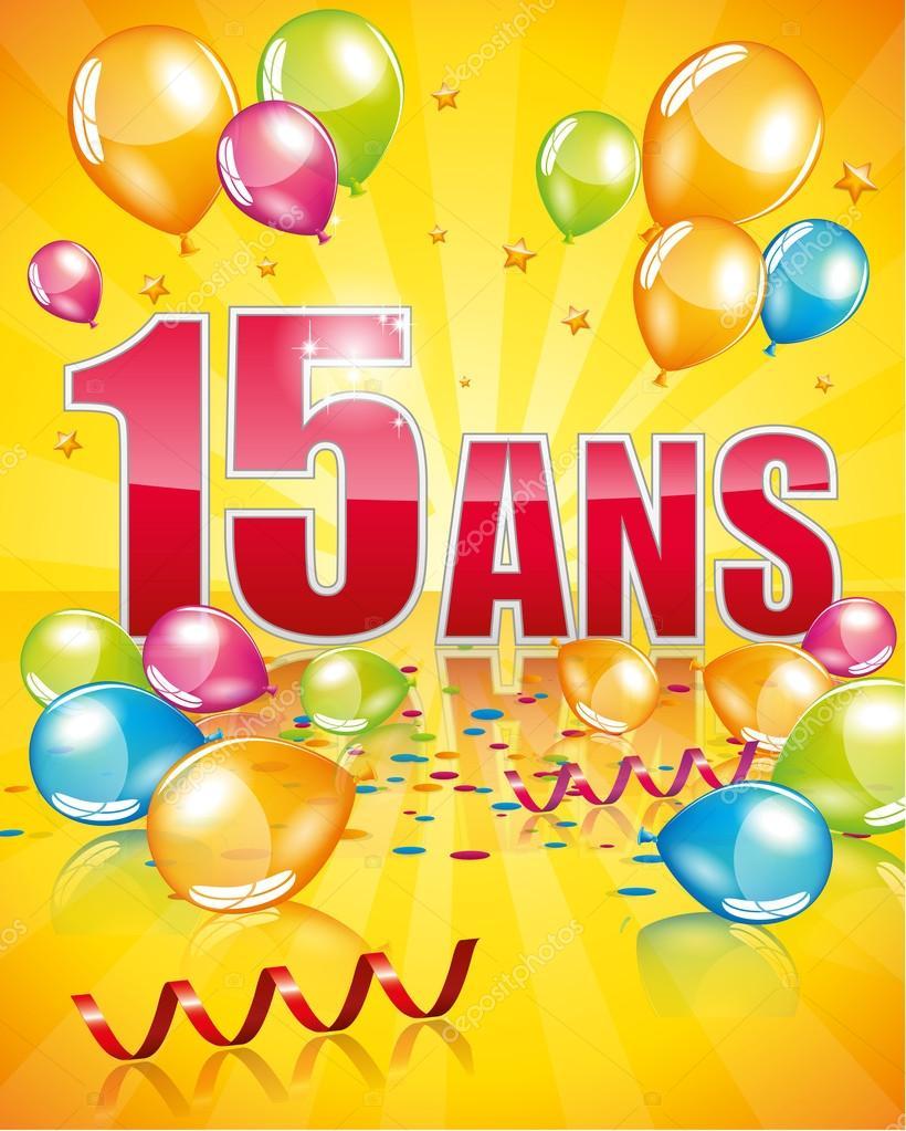födelsedagskort 15 år Franska födelsedagskort 15 år — Stock Vektor © Orkidia #82705178 födelsedagskort 15 år