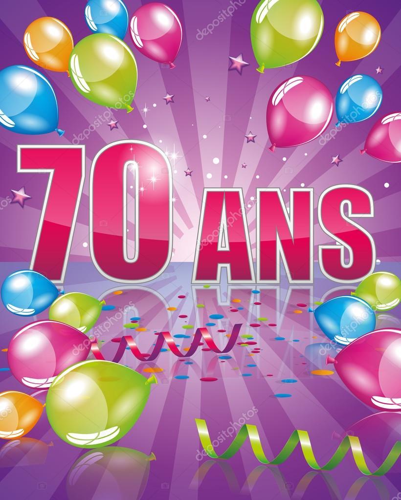 verjaardagskaart 70 jaar Franse verjaardagskaart 70 jaar — Stockvector © Orkidia #82706352 verjaardagskaart 70 jaar