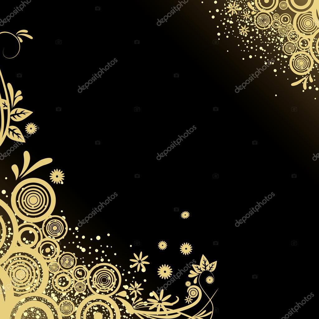 Orkidia for Black gold wallpaper designs