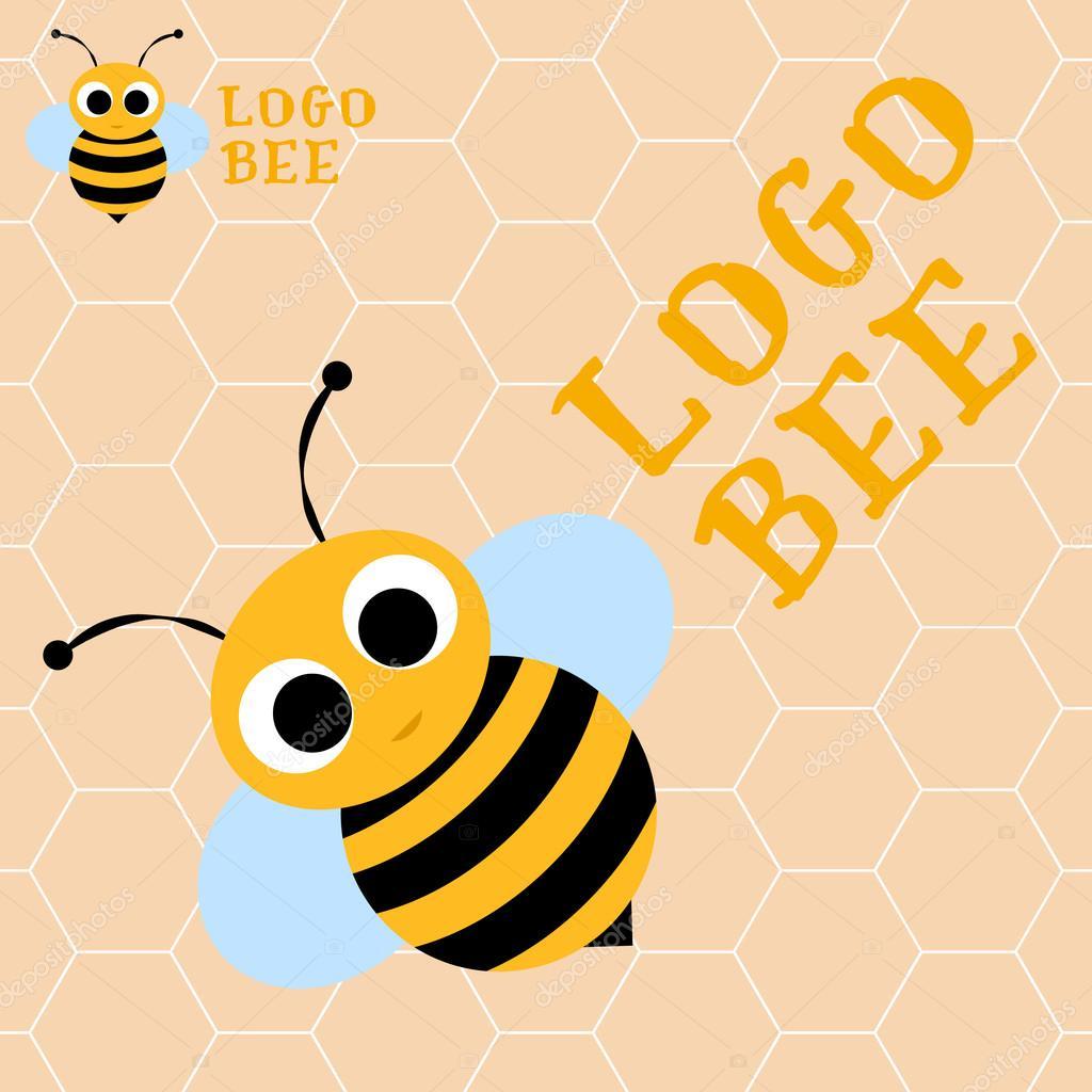 Logotipo de la abeja plantilla. Miel de abeja, logotipo, símbolo ...