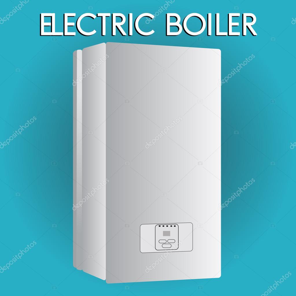 Elektrischer Kessel. Haus Heizung — Stockvektor © albode #93855028