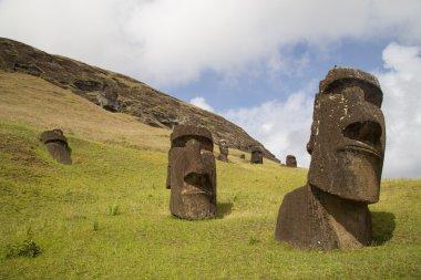 Rano Raraku stone quarry on Easter Island