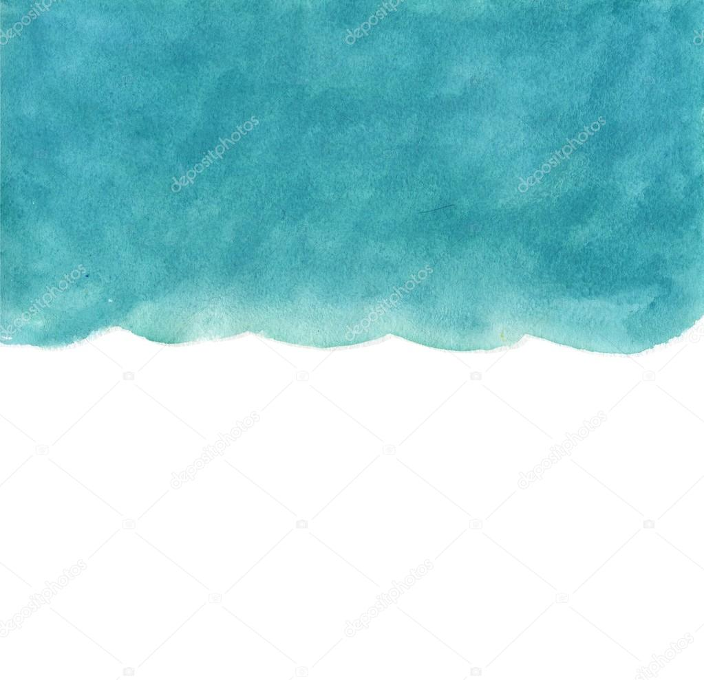 Watercolor blue background like a sky or the sea, water