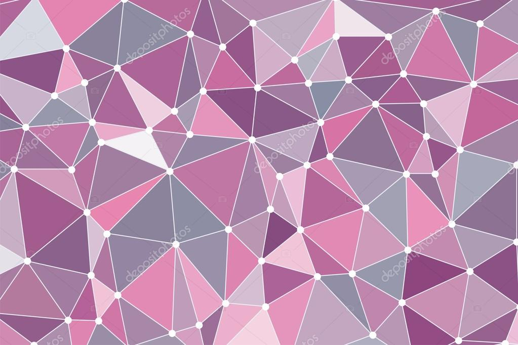 Line Color Form : Of triangles. background polygon with points. pink gray color