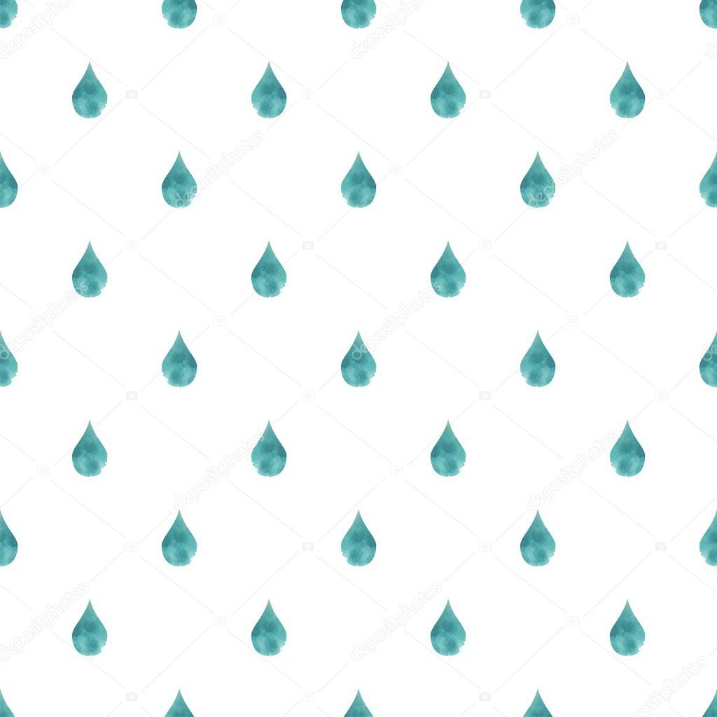 Raindrops Live Wallpaper: Rain Background Blue Watercolor Drops Drops Seamless