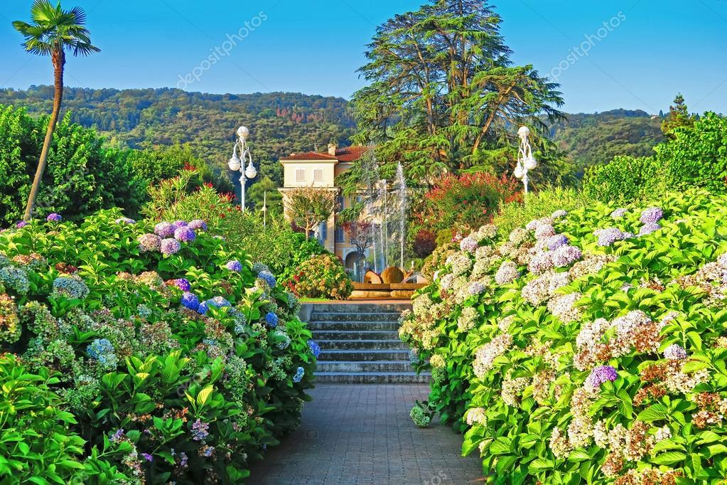 Flower garden in Stresa, Italy