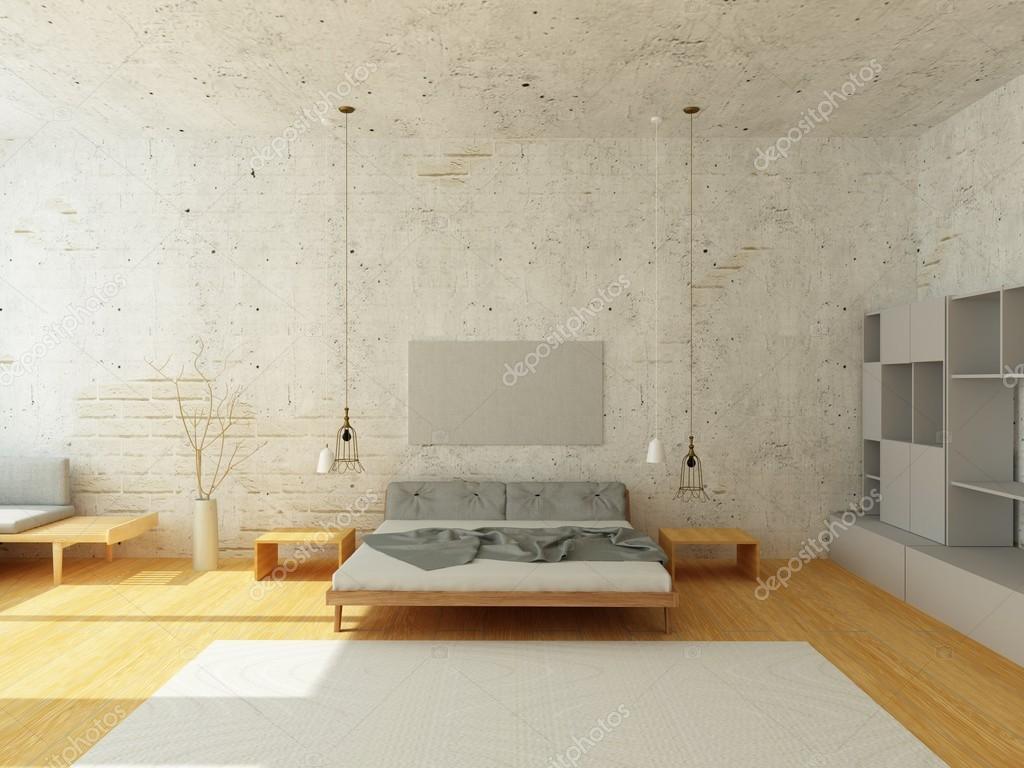 Intérieur cosy de chambre à coucher de Style scandinave ...