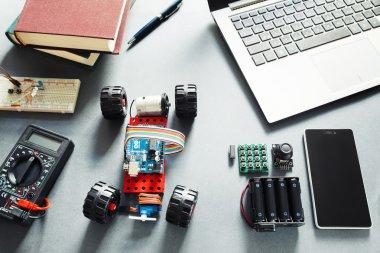 Arduino UNO elements. Programmers DIY platform