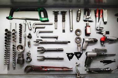 Professional mechanical tools in modern service