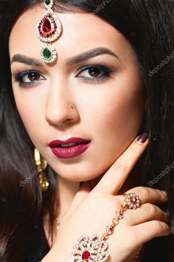 Bellissimo ritratto di principessa indiana foto stock for Piani di progettazione domestica indiana con foto