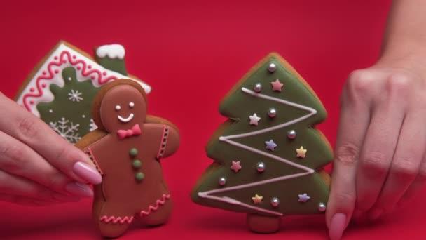 karácsonyi party pékség élelmiszer dekoráció mézeskalács ember