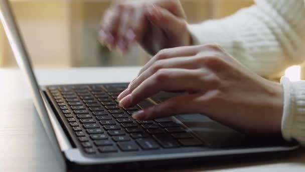 finish work female freelance worker computer