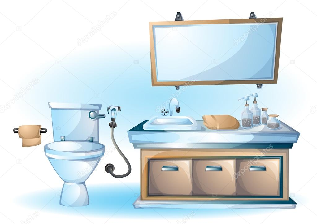 Cartoon Vektorobjekt Abbildung Innen Badewanne Stockvektor