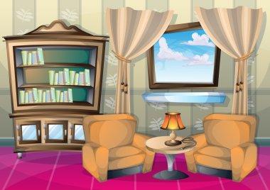 cartoon vector illustration interior kid room