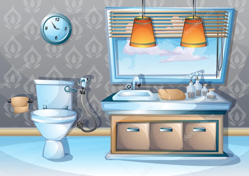 dibujos animados vector ilustración interior cuarto de ...