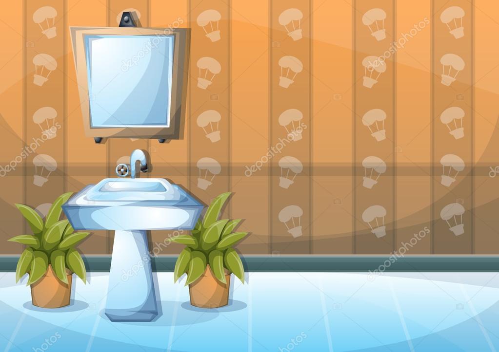 Dibujos animados vector ilustraci n interior cuarto de for Precio cuarto de bano