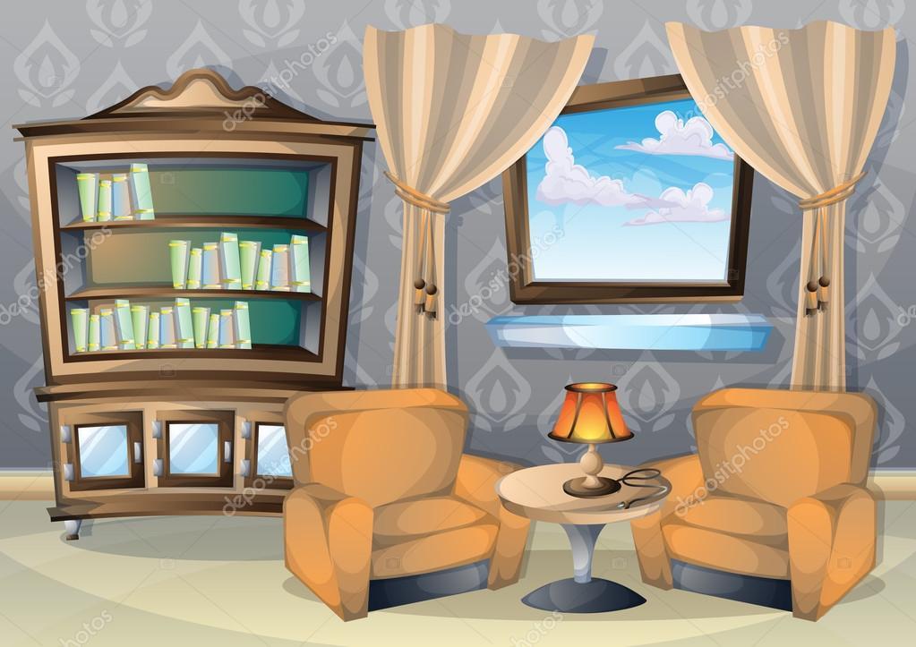 Comedor Dibujo Facil Dibujos Animados Vector Ilustración Interior