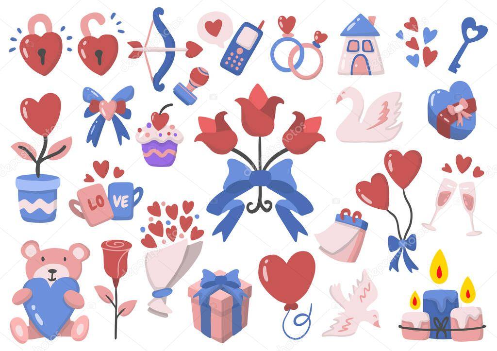Valentine illustration Vector for banner icon