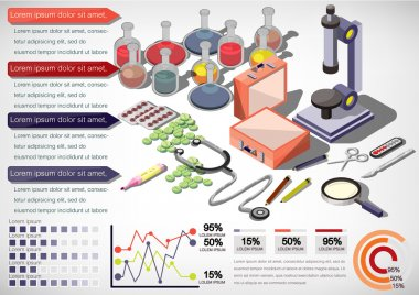 illustration of infographic medical concept