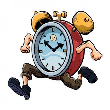 Clock Man Running.old clock