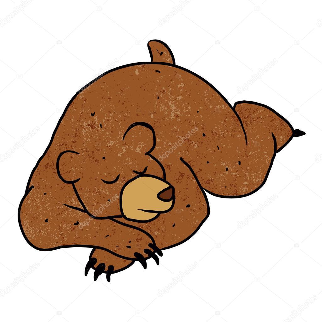 sleeping bear cartoon.Vector illustration — Stock Vector ...
