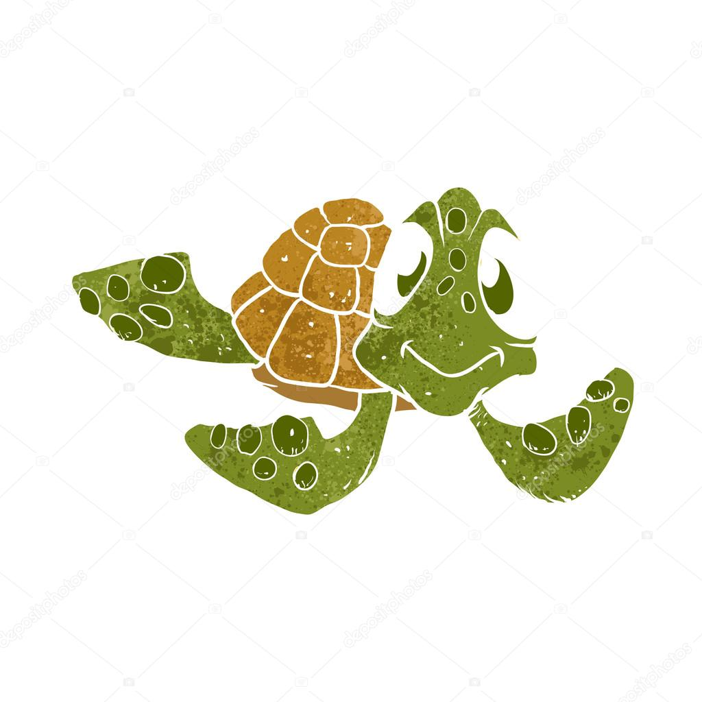 cute turtle cartoon vector illustration ストックベクター