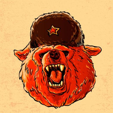 Illustration of a soviet bear .
