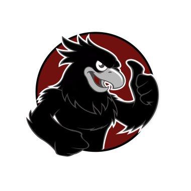 Black Hawk in red circle
