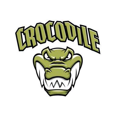 Grenn crocodile head mascot