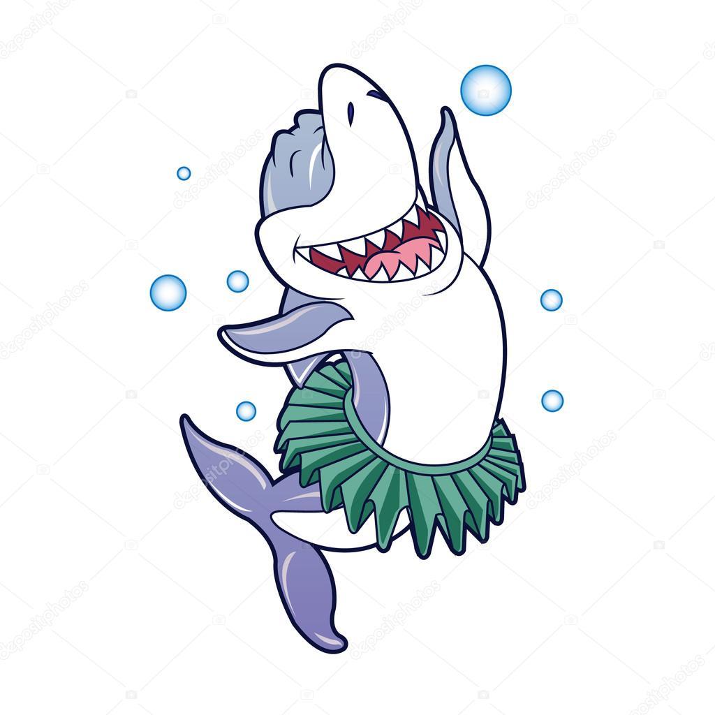Desenho De Tubarão Dançando