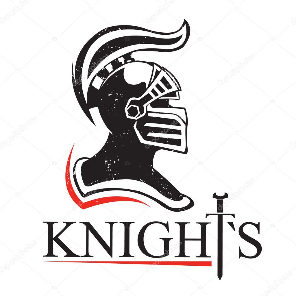 Warrior Helmets Black Icons Or Logos Set Knight Armor ...  Knights Helmet Logo