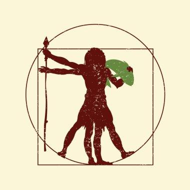 the vitruvian caveman