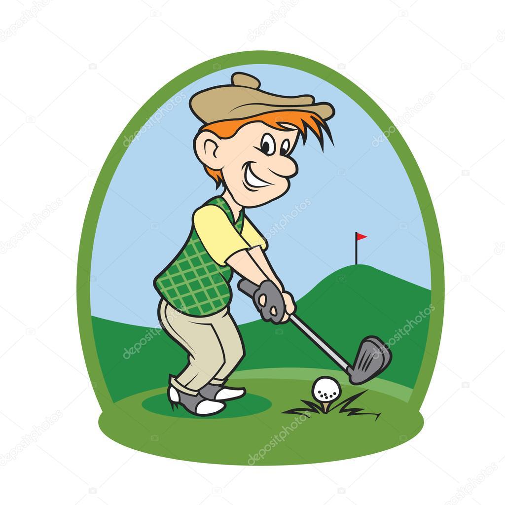 ni u00f1o de dibujos animados golf player vector de stock golf clip art funny golf clip art png