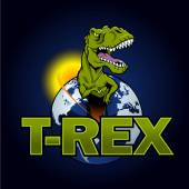Fotografie T Rex Dinosaur in the planet