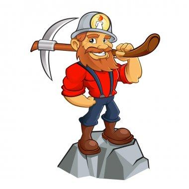Prospector cartoon,miner funny