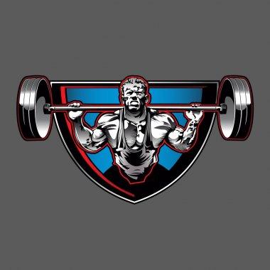 Bodybuilder illustration,vector illustration