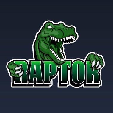 raptor mascot,cartoon raptor,dinosaur illustration,
