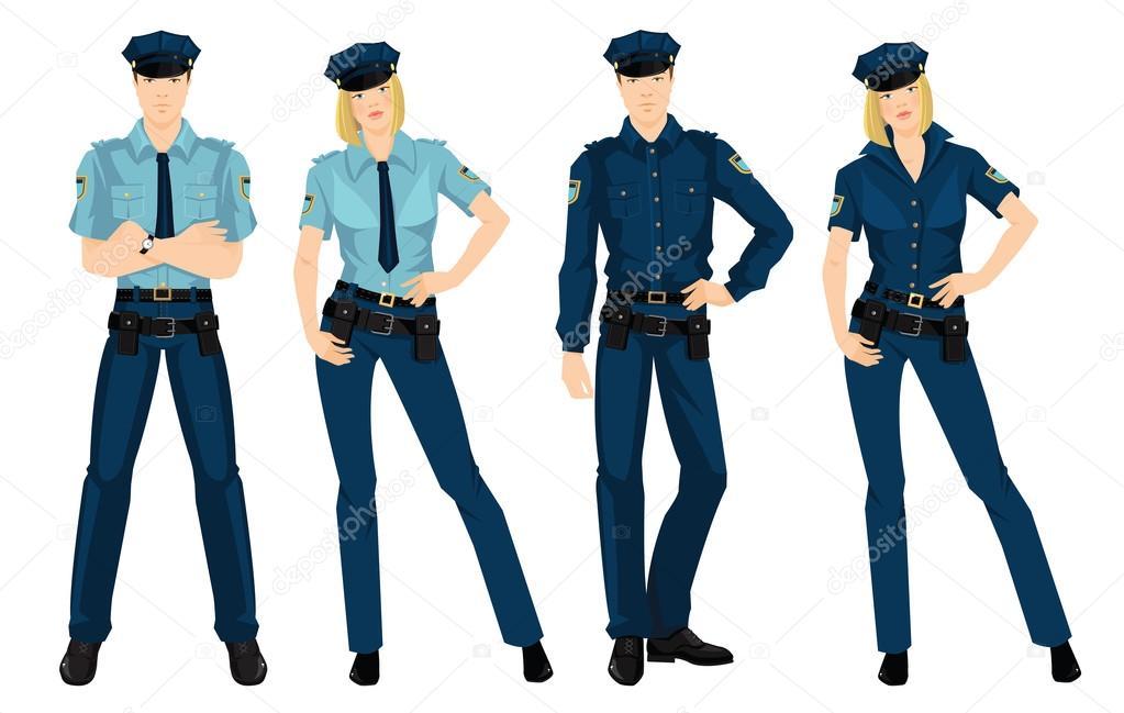 Militärische Frau und formale Kleidung — Stockvektor