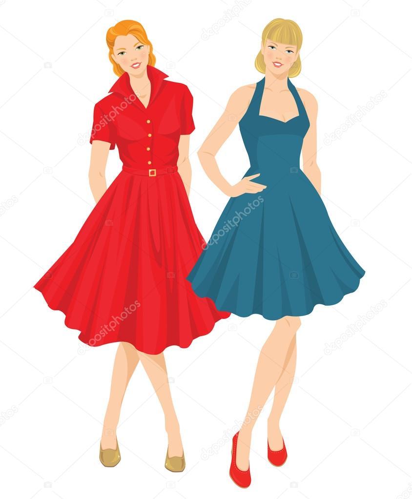 Kleider 50er style
