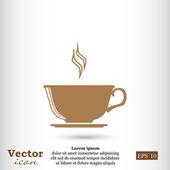 šálek čaje, káva ikony