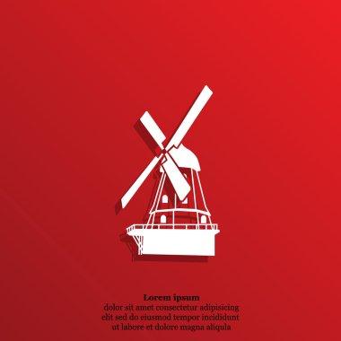 traditional farm windmill icon