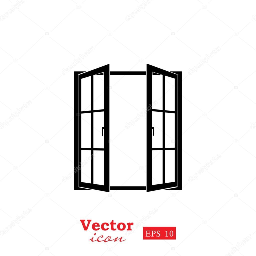 Ic ne de la fen tre ouverte image vectorielle victory for La fenetre ouverte