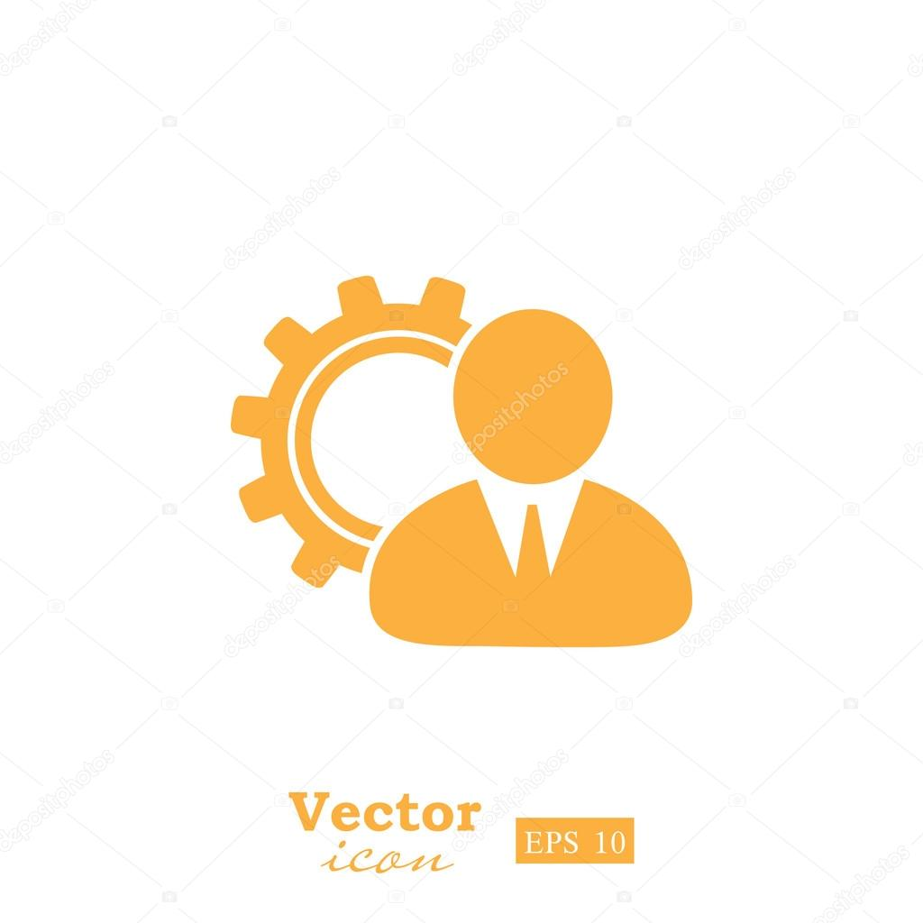 Business Manager Icon Stock Vector C Victory Stoker 107719722