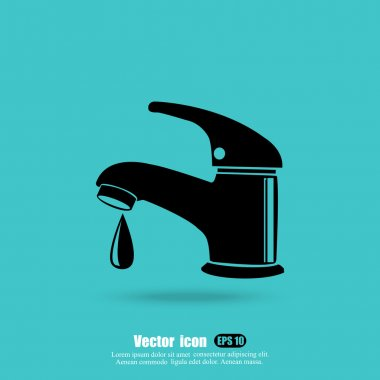 faucet with water icon